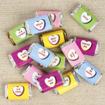 Valentine Mini Candy Bar Wrappers - BOGO