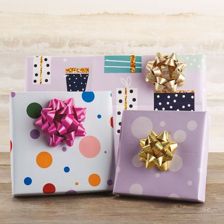 Spring Birthday Flat Gift Wrap Sheets