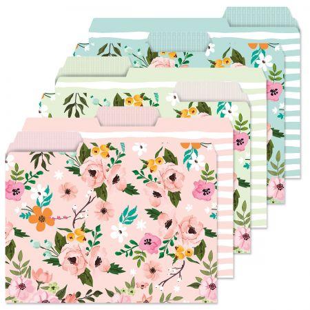 Spring Florals File Folders