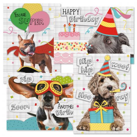 Birthday Pups Birthday Cards and Seals