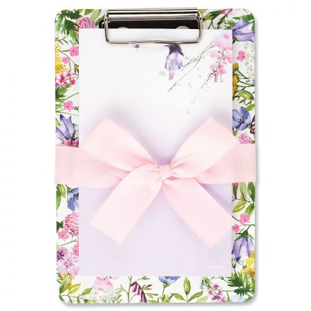 Wild Flowers Memo Pad with Clipboard - BOGO