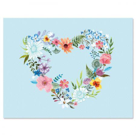 Daisy Wreath NoteCards - BOGO