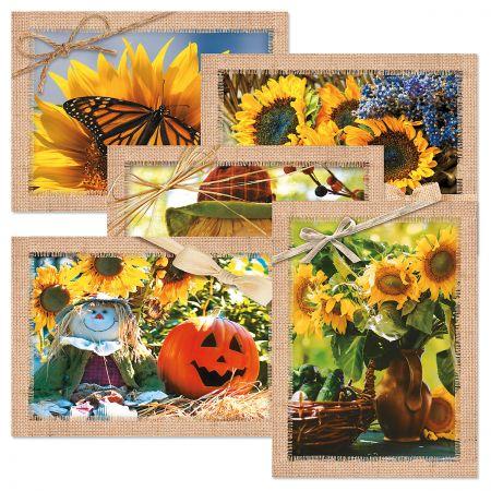 Autumn scenes card set