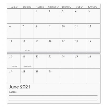 2021 Brush Strokes Pocket Calendar