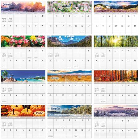Seasons Calendar 2021 2021 Changing Seasons Big Grid Calendar with Pockets | Current Catalog
