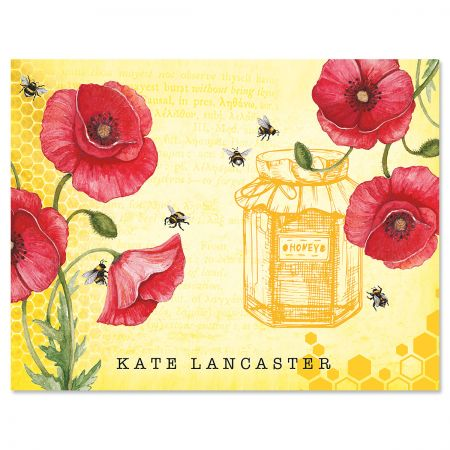 Bee Personalized Note Cards