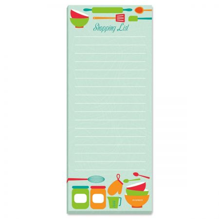 Big Shopping List Pads Room for the largest of lists. 50 sheets/pad, 3 1/4 x 8 . Set of 2