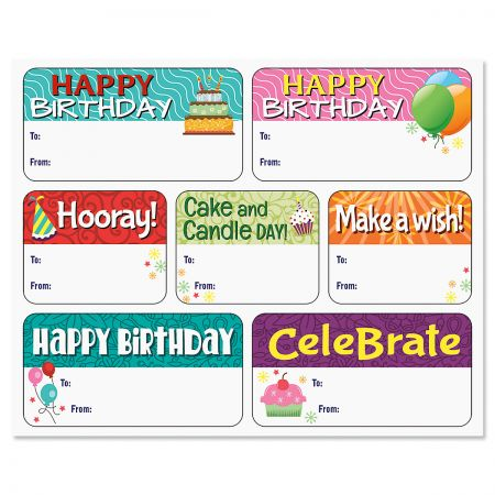 To/From Birthday Stickers