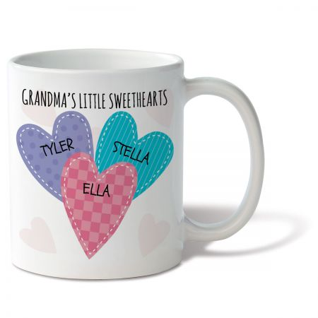 Grandma's Little Sweethearts Personalized Mug