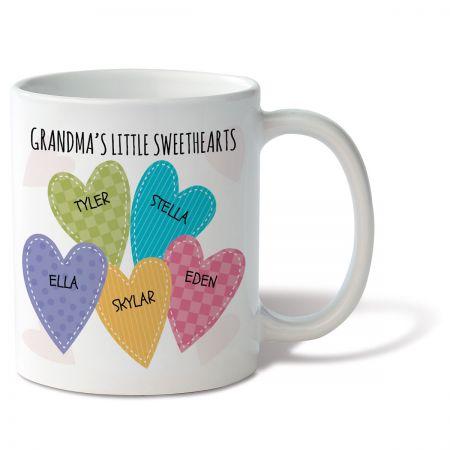 Grandma's Little Sweethearts Personalized Mug