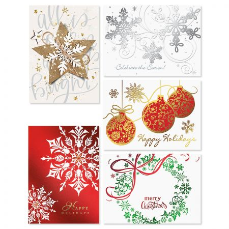 Snowflake Deluxe Religious Greeting Card Value Pack