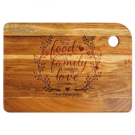 Blessings Engraved Wood Cutting Board