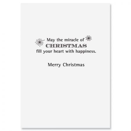 Ornaments on Wood Christmas Cards