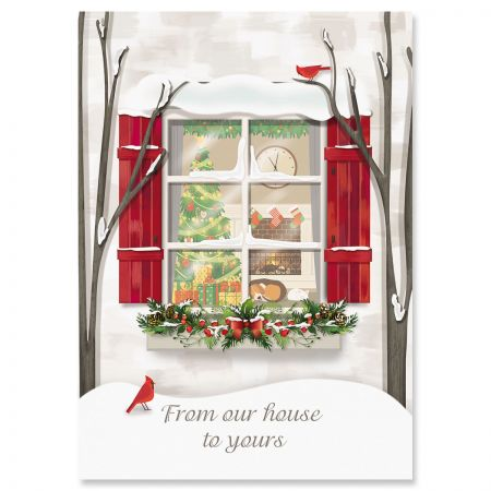 Holiday Window Christmas Cards