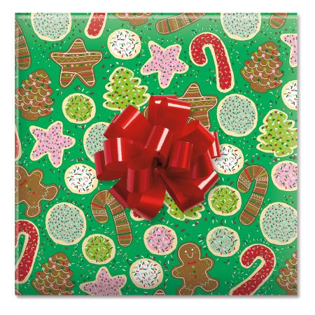 Christmas Cookies Jumbo Rolled Gift Wrap and Labels