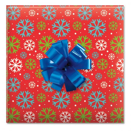 Just Fun Flakes Jumbo Rolled Gift Wrap and Labels