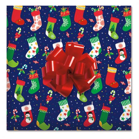 By The Chimney Jumbo Rolled Gift Wrap and Labels