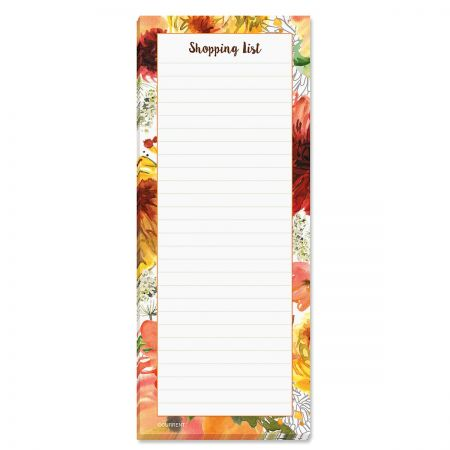 Mums Shopping List Pads - BOGO Get 4 pads for the price of 2! Perfect for shopping and to-do lists, 50 sheets/ pad, 8 x 3 1/4 . Set of 2