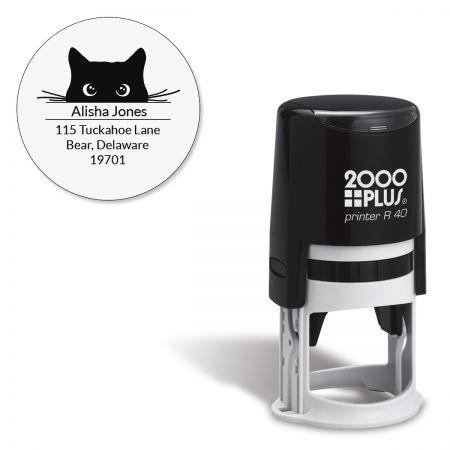 Cat Paws Round Self-Inking Address Stamp