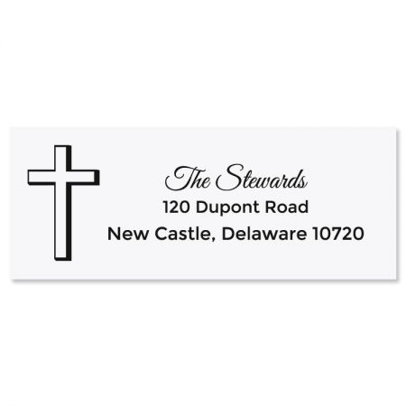 Simple Cross Self-Inking Address Stamp