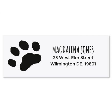 Paw Print Self-Inking Address Stamp