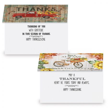 Rustic Thanksgiving Cards