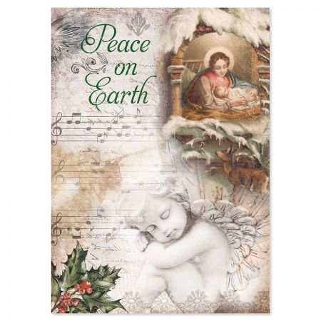 Peace on Earth Religious Christmas Cards