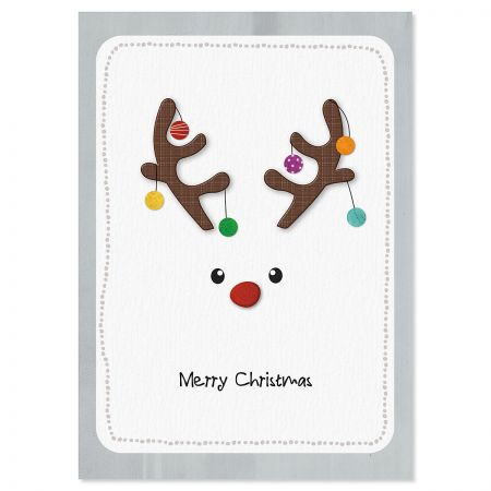 Reindeer Face Christmas Cards