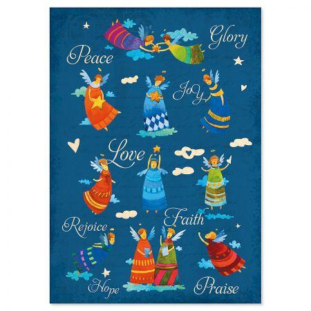 Peace Love Joy Snowman Religious Christmas Cards