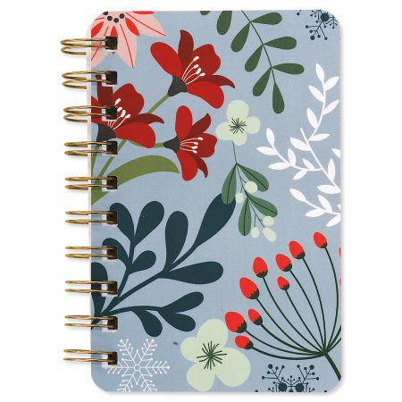 Winter Floral Spiral Notebooks - BOGO