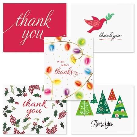 Christmas Thank You Note Cards - BOGO