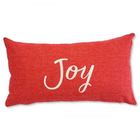 Joy Holiday Decorative Pillow Adding festive pillows will be one of your favorite ways to get into the holiday spirit. 100% polyester.