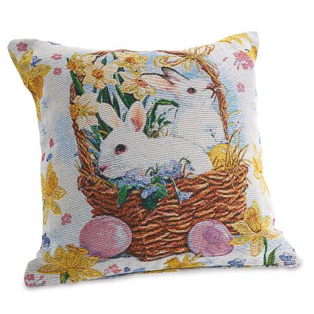 Tapestry Bunny Pillow