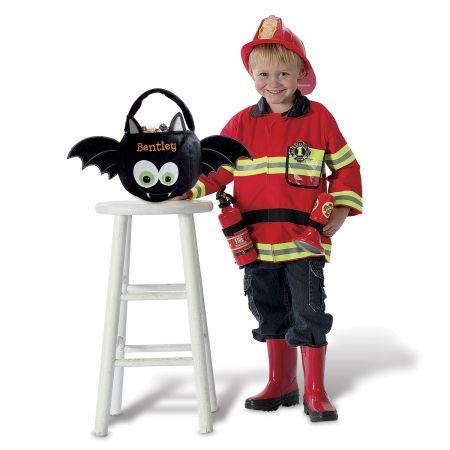 Personalized Halloween Bat Treat Basket