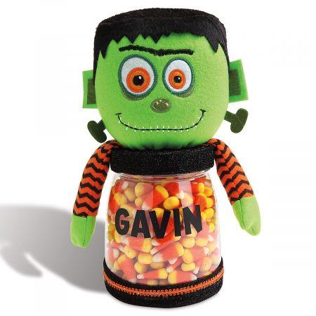 Halloween Frankenstein Personalized Treat Jar