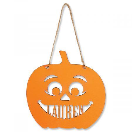 Wood Hanging  Halloween Jack-O-Lantern