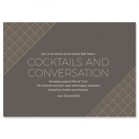 Personalized Brilliant Triangle Scallop Invitations