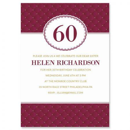 Personalized Plush Milestone Invitations