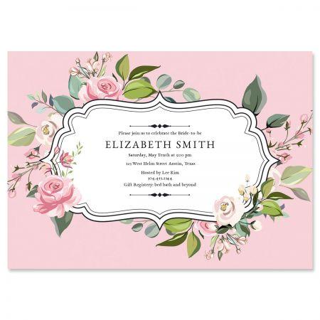 Personalized Grand Rose Invitations