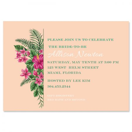 Personalized Lavish Tropical Invitations