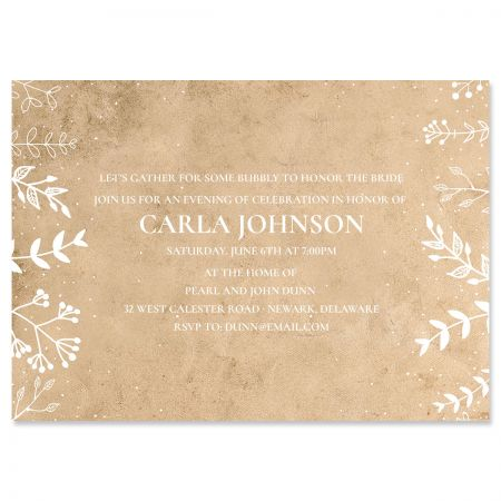 Personalized Natural Joy Invitations
