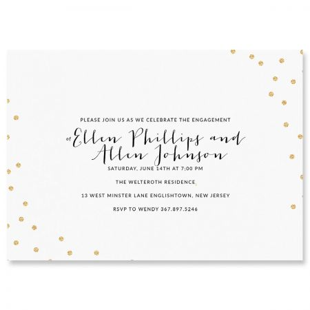 Personalized Glitter Confetti Invitations