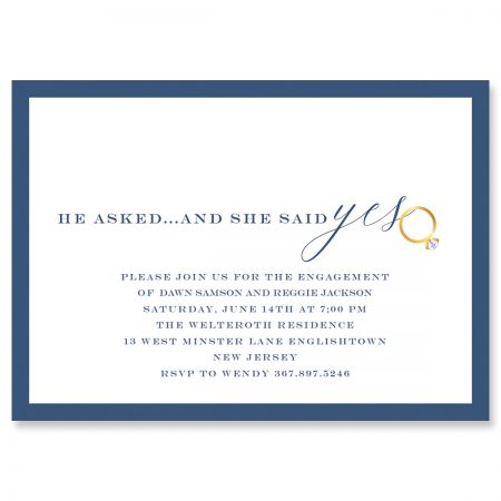 Personalized She said yes Invitations