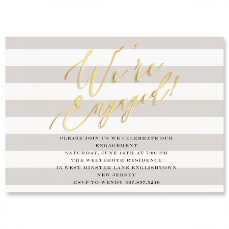 Personalized We're Engaged Invitations