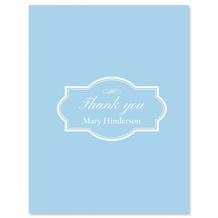 Personalized Light Blue Thank You Cards
