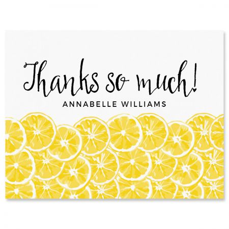 Personalized Lemons Thank You Cards
