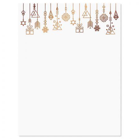 Foil Ornaments Christmas Letter Papers