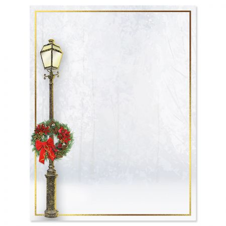 Foil Lamp Post Christmas Letter Papers