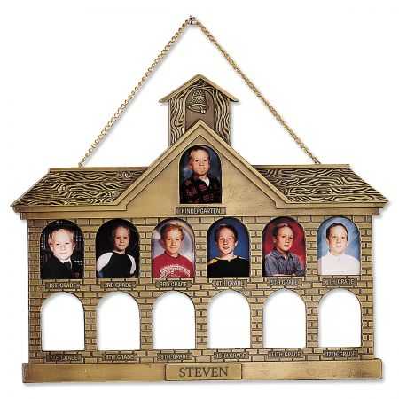 Personalized Gold Finish Schoolhouse Frame