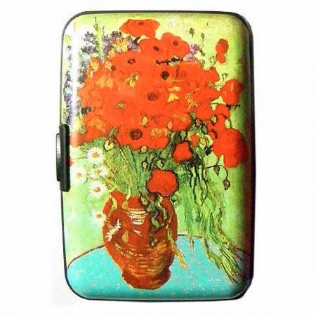 Poppy Vase fine Art Armored Wallet